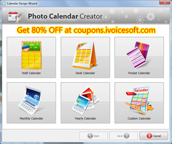 Photo Calendar Creator PRO Screenshot