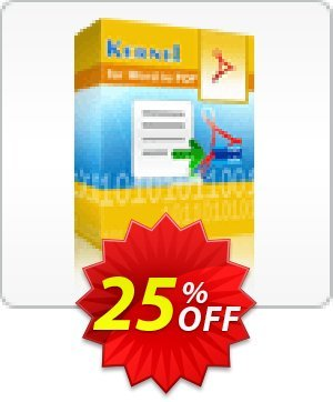 Kernel for Word to PDF - 5 Users License Coupon BOX
