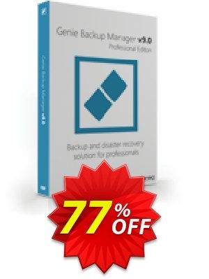 Genie Backup Manager Professional 9 - 3 Pack Coupon BOX