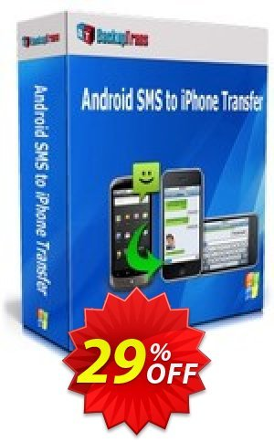 Backuptrans Android SMS to iPhone Transfer (Personal Edition) Coupon BOX