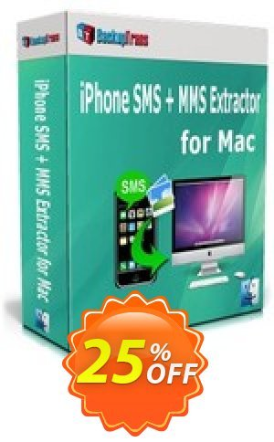 Backuptrans iPhone SMS + MMS Extractor for Mac (Family Edition) Coupon BOX