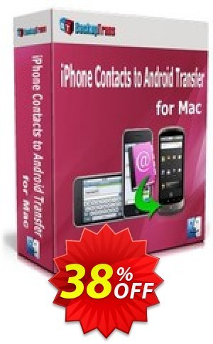 Backuptrans iPhone Contacts to Android Transfer for Mac (One-Time Usage) Coupon BOX