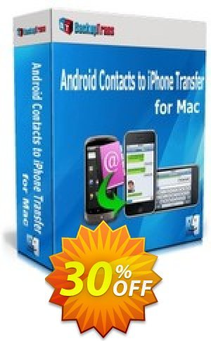 Backuptrans Android Contacts to iPhone Transfer for Mac (Business Edition) Coupon BOX
