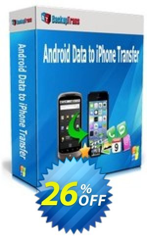 Backuptrans Android Data to iPhone Transfer (Personal Edition) Coupon BOX