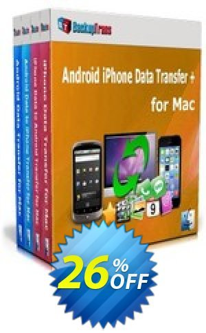 Backuptrans Android iPhone Data Transfer + for Mac (Personal Edition) Coupon BOX