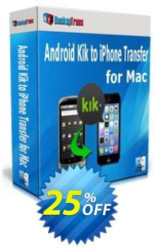 Backuptrans Android Kik to iPhone Transfer for Mac (Family Edition) Coupon BOX