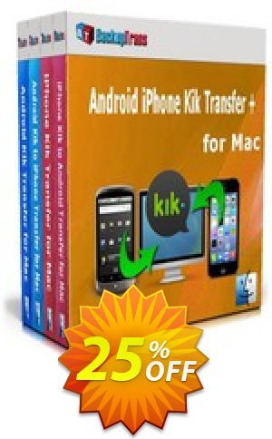 Backuptrans Android iPhone Kik Transfer + for Mac (Business Edition) Coupon BOX