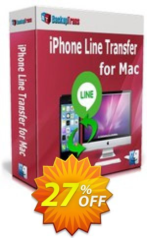 Backuptrans iPhone Line Transfer for Mac (Personal Edition) Coupon BOX
