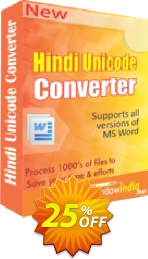 WindowIndia Hindi Unicode Converter Coupon BOX