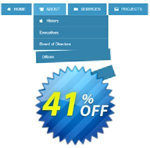Animated Drop Down Menu Extension for WYSIWYG Web Builder Coupon BOX
