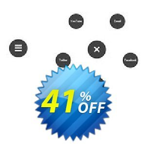 Radial Text Menu Extension for WYSIWYG Web Builder Coupon BOX