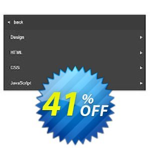 Drilldown Menu Extension for WYSIWYG Web Builder Coupon BOX