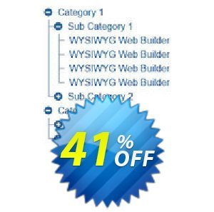 10% OFF TreeView Menu Extension for WYSIWYG Web Builder Coupon code on Back  to School sales, September 2019