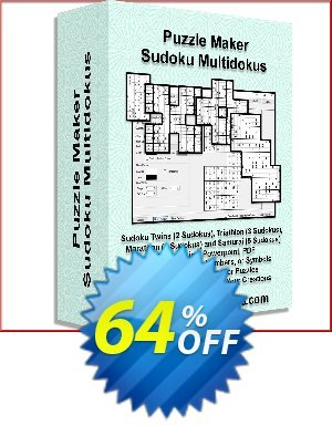 Puzzle Maker Sudoku Multidokus Coupon BOX