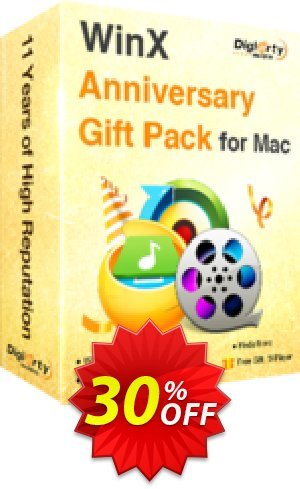 WinX Anniversary Gift Pack for Mac Coupon BOX