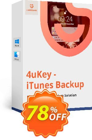 Tenorshare 4uKey - iTunes Backup for Mac - (11-15 Devices) Coupon BOX