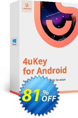 20% OFF Tenorshare 4uKey for Android - 1 Year/11-15 Devices Coupon code on  US Independence Day discount, July 2019