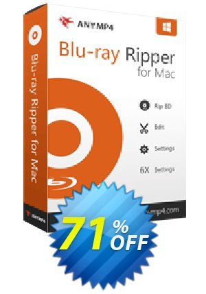 AnyMP4 Blu-ray Ripper for Mac Lifetime Coupon BOX