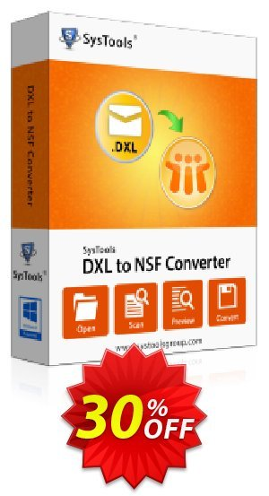 SysTools DXL to NSF Converter Coupon BOX