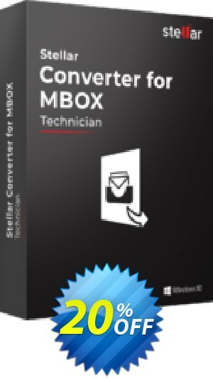 Stellar MBOX to PST Converter offer (Technical) Coupon BOX