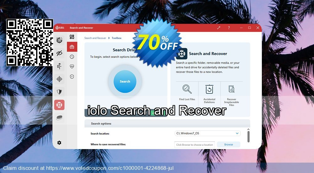 Get 26% OFF iolo Search and Recover Coupon