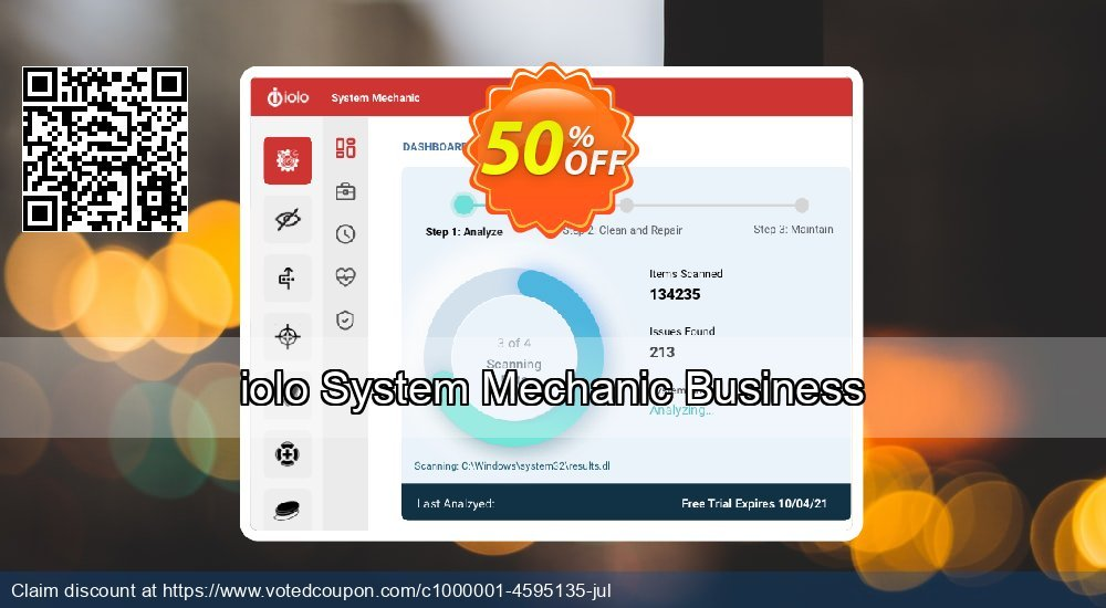 Get 84% OFF iolo System Mechanic Business promotions