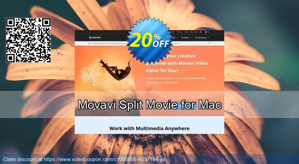 Get 16% OFF Movavi Split Movie for Mac sales