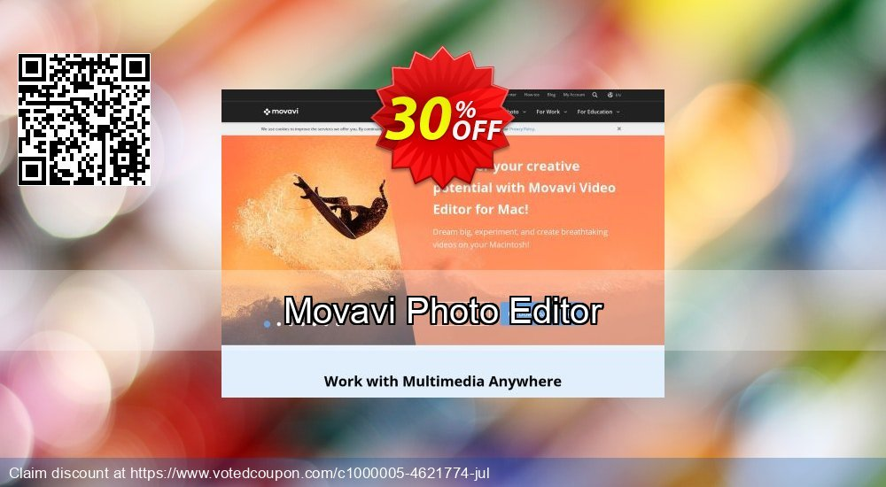 Get 30% OFF Movavi Photo Editor offer