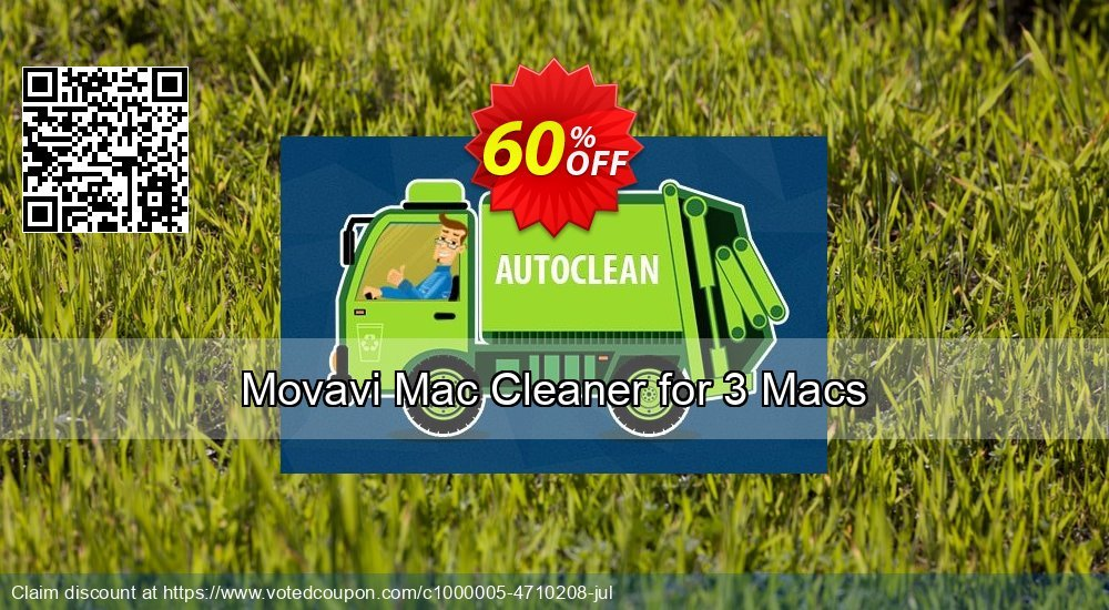 58% OFF Movavi Mac Cleaner for 3 Macs Coupon code on Women's Day discounts,  April 2019