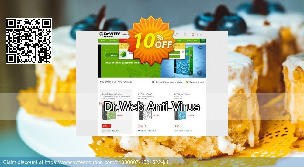 Get 10% OFF Dr.Web Anti-Virus offering sales