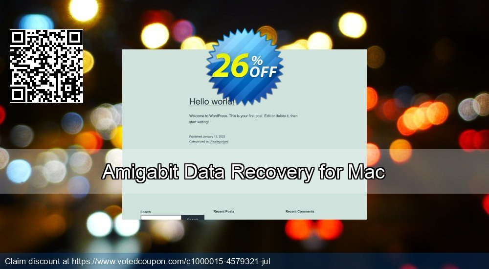 Get 26% OFF Amigabit Data Recovery for Mac offering sales
