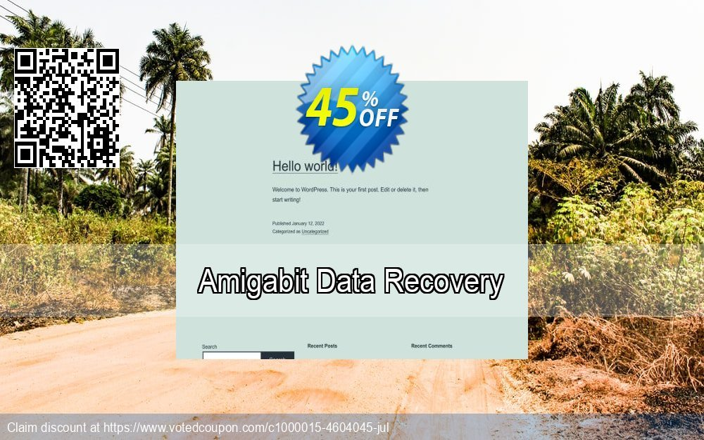 Get 45% OFF Amigabit Data Recovery Coupon