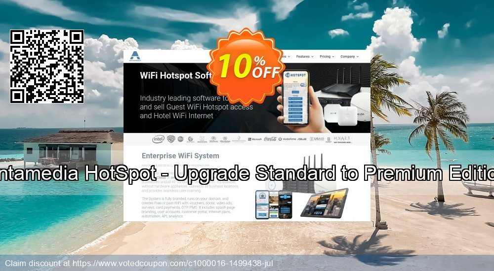 Get 10% OFF Antamedia HotSpot - Upgrade Standard to Premium Edition offering sales