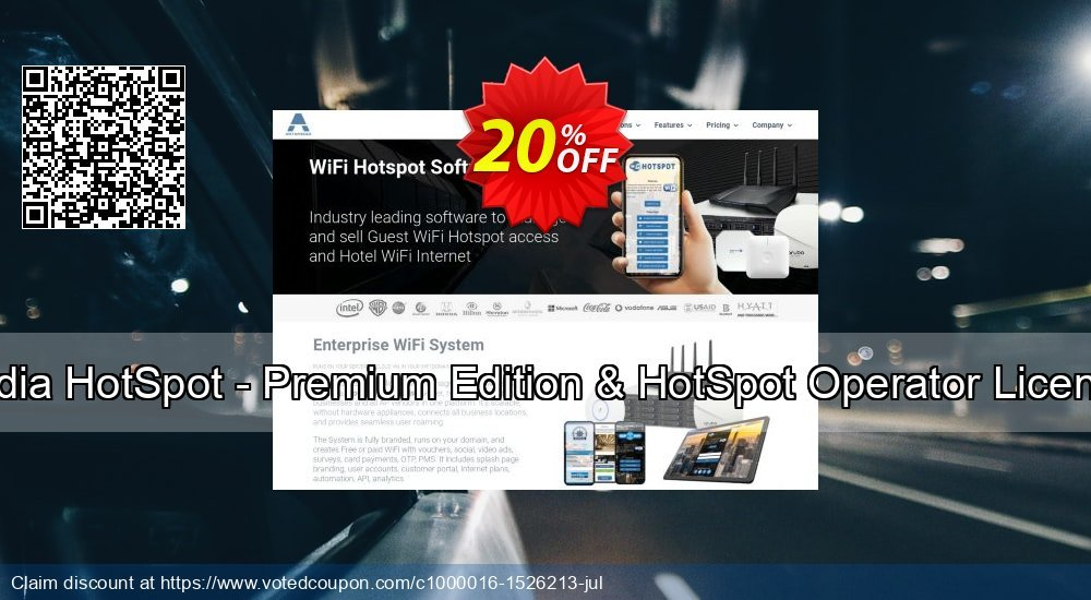 Get 20% OFF Special Bundle - Antamedia HotSpot - Premium Edition & HotSpot Operator License & Credit Card Suppor offering sales