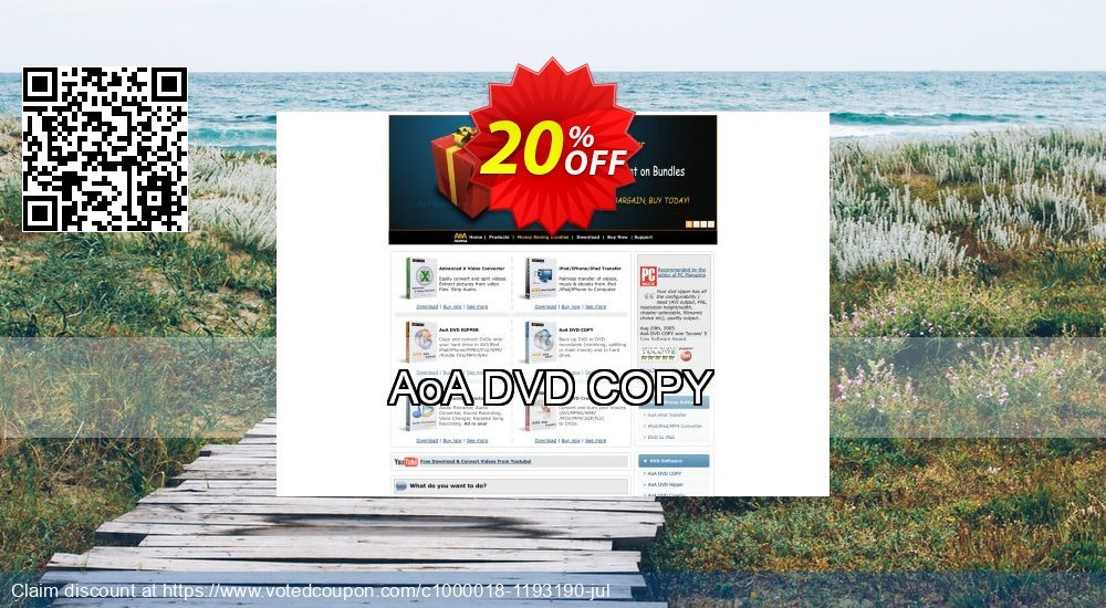 Get 20% OFF AoA DVD COPY offering sales