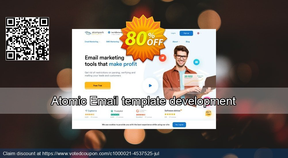 Get 100% OFF Atomic Email template development promo