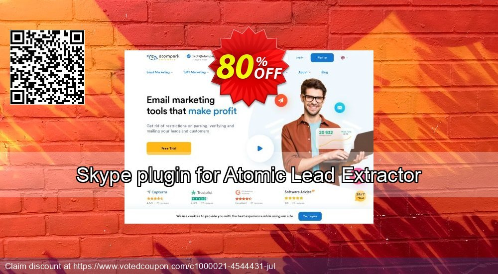 Get 100% OFF Skype plugin for Atomic Lead Extractor offering sales
