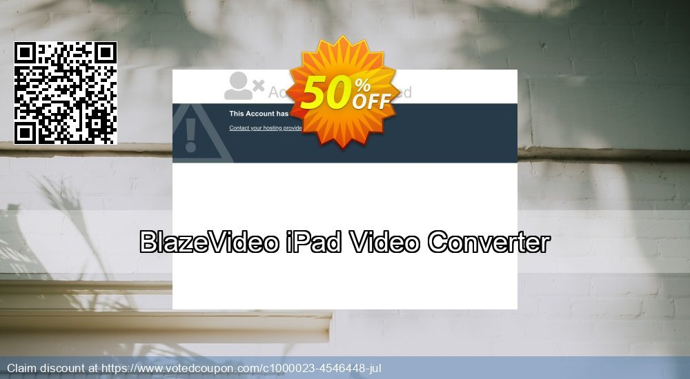 Get 50% OFF BlazeVideo iPad Video Converter offering sales