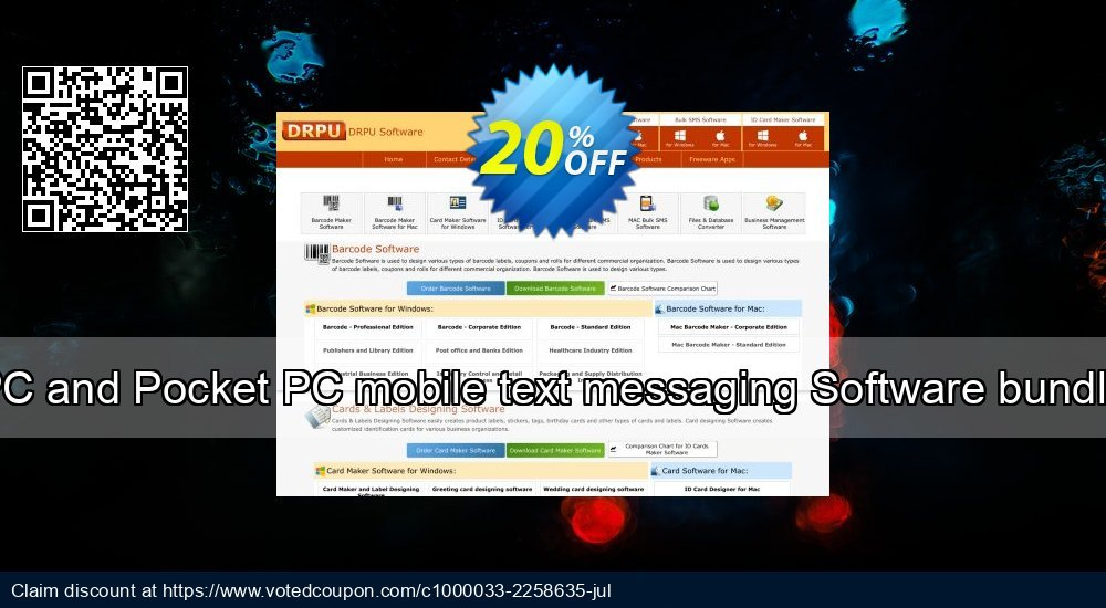 Get 20% OFF PC and Pocket PC mobile text messaging Software bundle offering sales