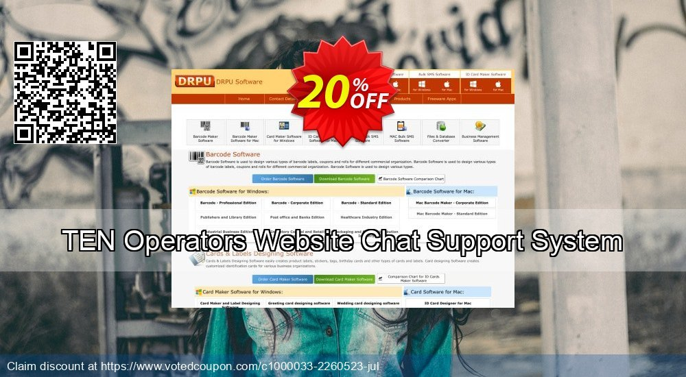 Get 20% OFF TEN Operators Website Chat Support System discounts