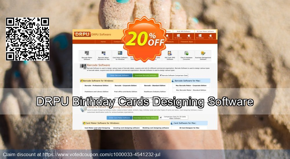 Get 20% OFF DRPU Birthday Cards Designing Software offering discount