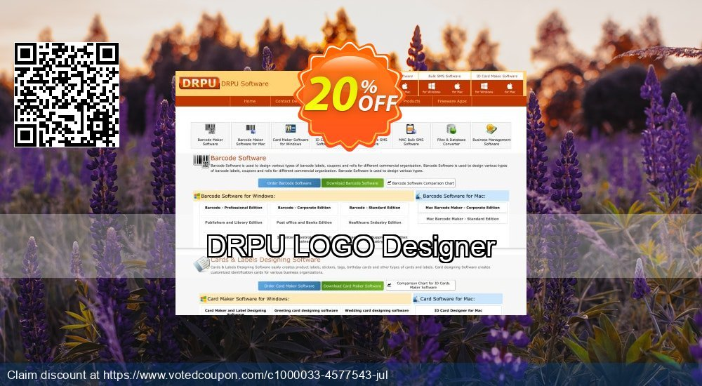 Get 20% OFF DRPU LOGO Designer offering discount