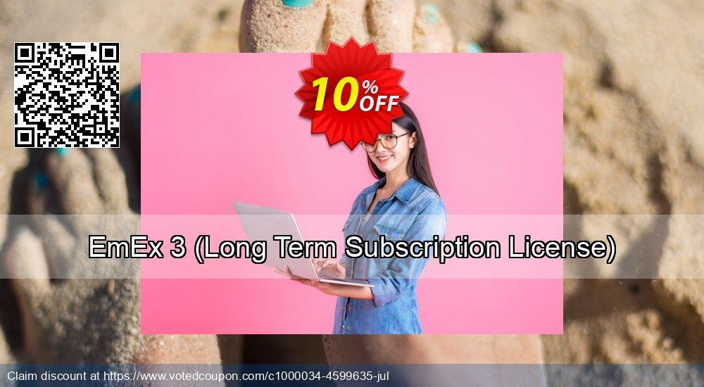 Get 10% OFF EmEx 3 (Long Term Subscription License) offering sales