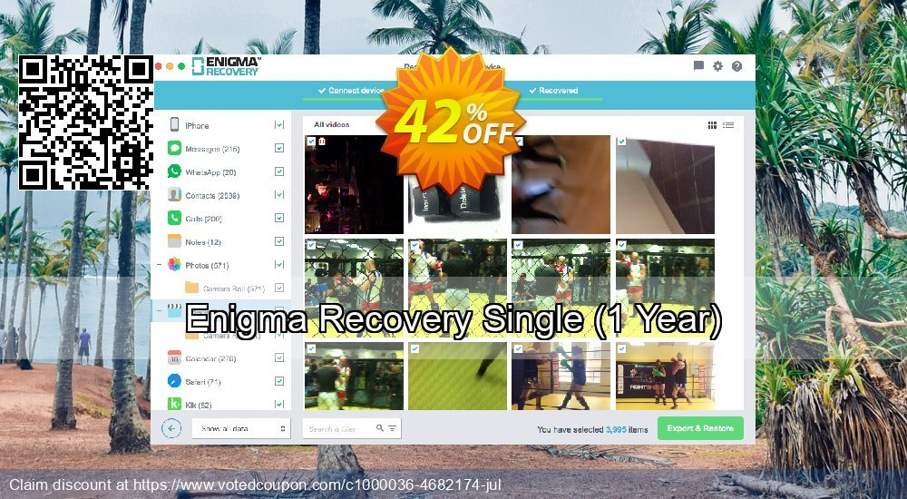 Get 21% OFF Enigma Recovery Single, 1 Year Coupon