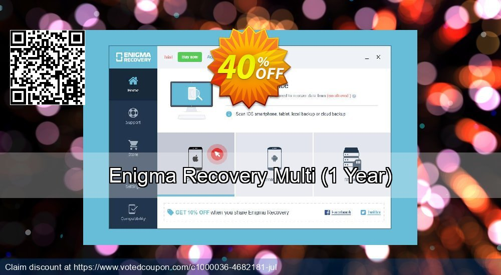 Get 21% OFF Enigma Recovery Multi, 1 Year Coupon