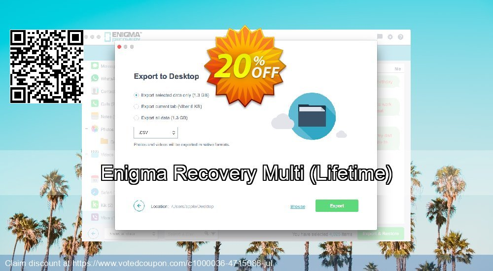 Get 21% OFF Enigma Recovery Multi, Lifetime Coupon