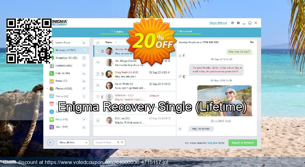 Get 21% OFF Enigma Recovery Single, Lifetime Coupon