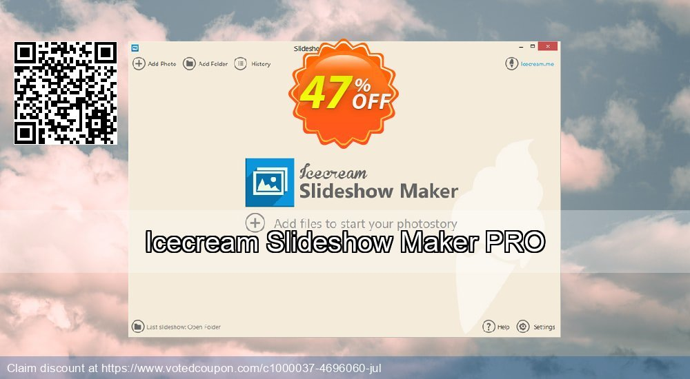 Get 20% OFF Icecream Slideshow Maker PRO offer