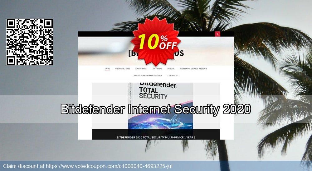 Get 10% OFF Bitdefender Internet Security 2019 promo sales