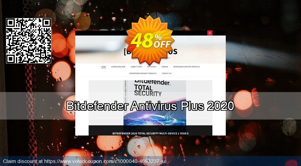Get 48% OFF Bitdefender Antivirus Plus 2019 discounts